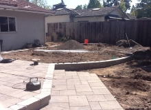 Paver Patio and Lawn Area Beginning