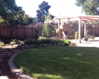 Lawn and Paver Patio