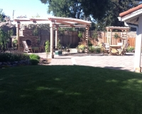 Paver Patio with Fire place and Arbor