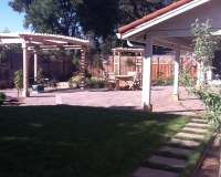 Paver Patio, Garden and Arbors