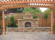 Fire Place, Paver Patio and Arbor