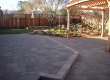 Paver Patio and Waterfall